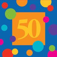 BEV NAPKINS BIRTHDAY STRIPES 50