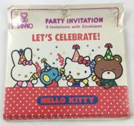 INVITATIONS HELLO KITTY  LET'S CELEBRATE