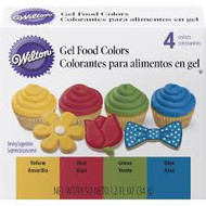 GEL FOOD COLOR SET PRIMARY 4 PK