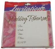 INVITATIONS WEDDING REHEARSAL 8 CT