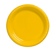 PLATES 9 IN. YELLOW SCHOOLBUS 24 CT