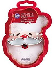 COOKIE CUTTER SANTA FACE 2 PC SET