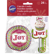 BAKING CUPS COMBO CANDY CANE 24 CT