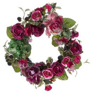 """WREATH  CABBAGE AND ROSE 22"""""""