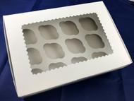 CUPCAKE BOX /WINDOW WHITE 3 CT