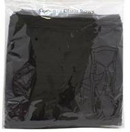 CHAIR BOWS BLACK ORGANZA x10