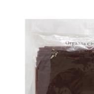 CHAIR BOWS CHOCOLATE ORGANZAx10