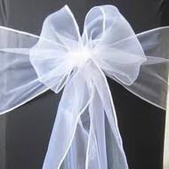 CHAIR BOWS WHITE ORGANZA x10
