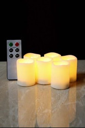 VOTIVE CANDLES LED 6CT W/ REMOTE