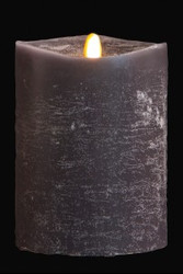 "PILLAR CANDLE LED GRAPHITE 4"" X 5"""