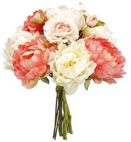 "NOSEGAY  PEONY/RANUNCULUS 13"" CO/BS"