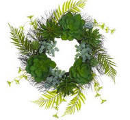 WREATH SUCCULENT FERN 25""