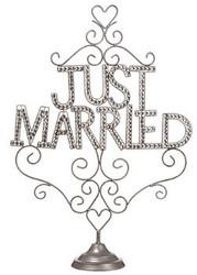"JUST MARRIED RHIN. TABLETOP 28"""