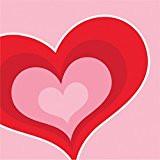 BEV NAPKINS VALENTINE HEARTS 16CT