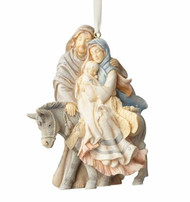 FND4058698 HOLY FAMILY W/ DONKEY ORNAMENT