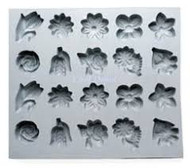 RUBBER CANDY MOLD FLOWER ASSORTMENT
