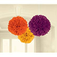 FLUFFY DECORATIONS TISSUE PAPER PUFFS 3 CT.