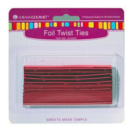 TWIST TIES RED FOIL 50 PC