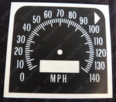 Gauge, HQ Speedo 140 MPH Decal