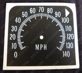 Gauge, HQ Speedo 140 MPH Decal (custom)