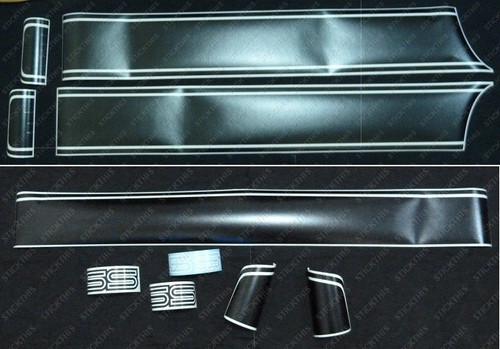 HQ SS Complete Stick-on Stripe and Decal Kit