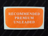 Fuel - Recommended Premium Unleaded (2)