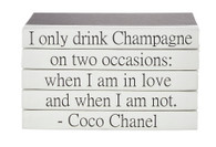"Quotations Series: Coco Chanel ""Champagne"""