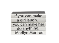 "5 volume quote stack ""If you can make a girl laugh..."""