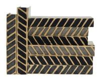 Black and Gray Chevron/Herringbone vertical batik - priced by the book
