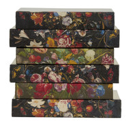 Flemish florals on dark background - priced by the book