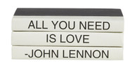 """3 vol. Mini Quote stack - """"All you need is love"""""""
