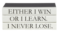 "3 vol. Quote Stack ""I never lose..."""