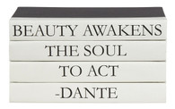 "4 vol. Quote stack ""beauty awakens..."""