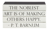 "4 vol quote stack ""The noblest art..."""