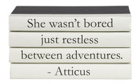 "4 vol. quote stack ""she wasn't bored..."""