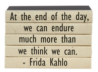 "5 vol. Quote stack ""We can endure..."""