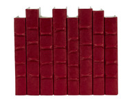 Red Parchment bound books- by the linear foot