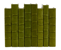 Dark Olive Green parchment bound books- by the linear foot