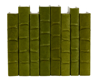 Dark Olive Green parchment bound books by the linear foot
