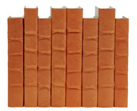 Orange parchment bound books by the linear foot