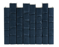Steel Blue parchment bound books by the linear foot