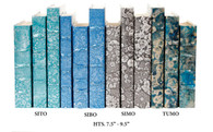 TUMO - turquoise mottled over gold leaf -  priced by the book