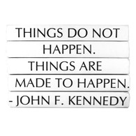 """JFK """"Things do not happen..."""" 5 Volume Stack"""
