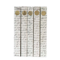 Gold Medallion on Antiqued Scripted Parchment (priced per book)