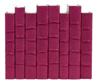 Magenta parchment bound books - priced by the book