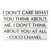 "Quotation Series: Coco Chanel ""I Don't Care What You Think..."" 5 Volume Stack"
