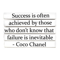 "Quotation Series: Coco Chanel ""Success is often..."" 5 Volume Stack"