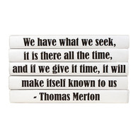 "Quotations Series: Thomas Merton ""We have what we seek..."" 5 Vol."