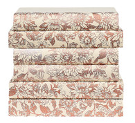 Floral pattern painted in Rose Gold