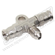 200 Series Hose End Tee with Male & Bracket